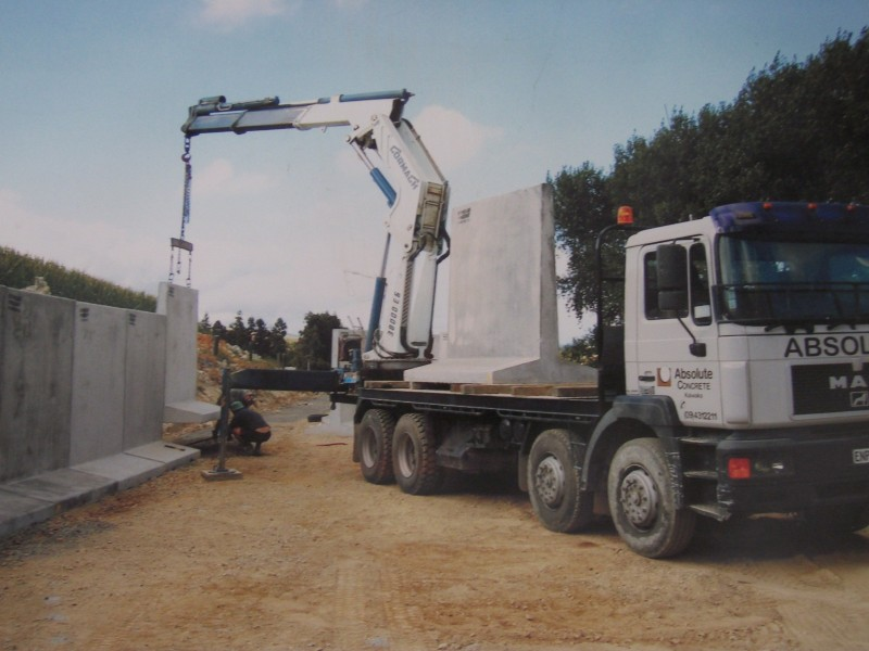 Absolute Concrete Pre Cast Silage Bunker Walls