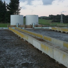 Absolute Concrete Floodwash tank on pad before